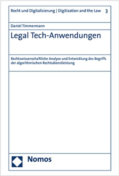 Legal Tech-Anwendungen_Timmermann
